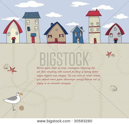 Seaside Houses Background