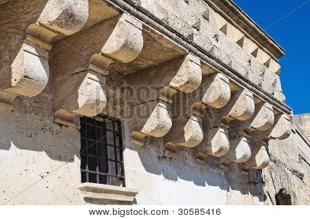 Historical palace. Sassi of Matera. Basilicata. Italy. poster