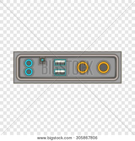 Cable Connection Panel Icon. Cartoon Illustration Of Cable Connection Panel Vector Icon For Web Desi