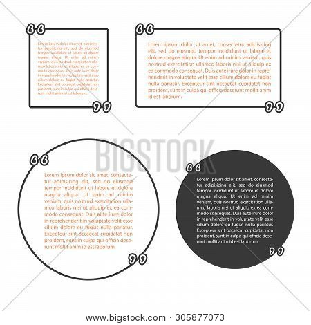 Template Vector Set With Quotes. Quote Blank Template.empty Template.business Card Template, Paper S