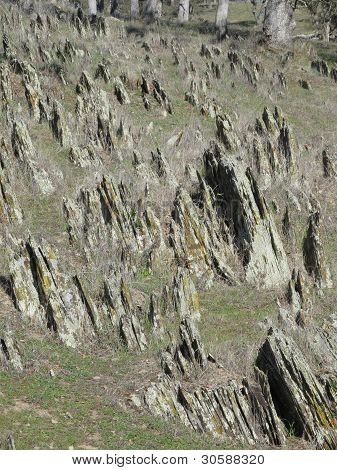 USA, California, Deer Creek Hills, Jurassic Salt Springs Slate
