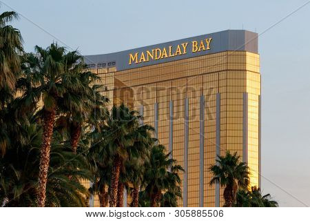 Las Vegas - Circa June 2019: Mandalay Bay Hotel Exterior. The Mandalay Bay Is A Subsidiary Of Mgm Re