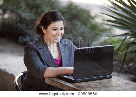 Empresaria - teletrabajo de cibercafé