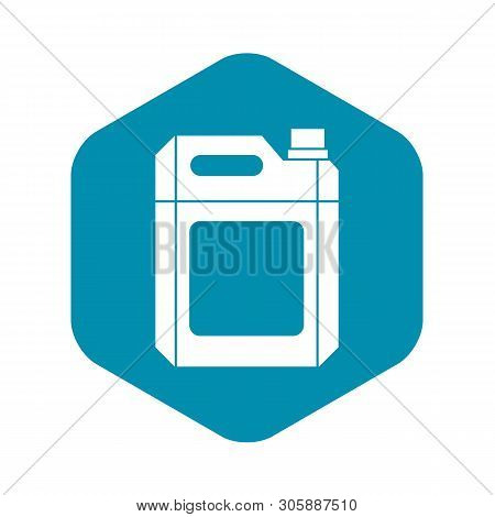 Plastic Jerry Can Icon In Simple Style On A White Background Vector Illustration