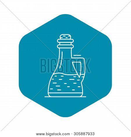 Glass Bottle Vinegar Icon. Outline Glass Bottle Vinegar Vector Icon For Web Design Isolated On White