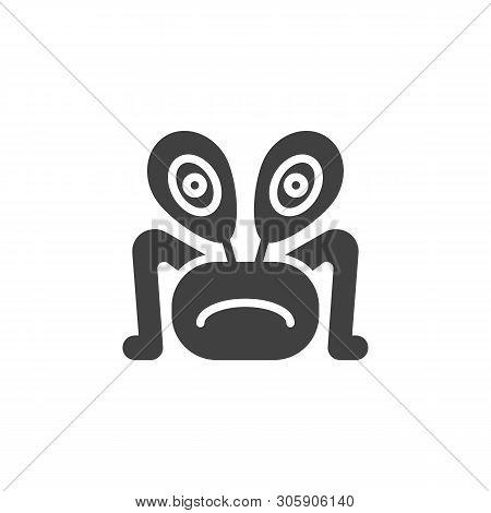Alien Animal Vector Icon. Ufo Invader Filled Flat Sign For Mobile Concept And Web Design. Monster Al