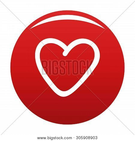 Greedy Heart Icon. Simple Illustration Of Greedy Heart Vector Icon For Any Design Red