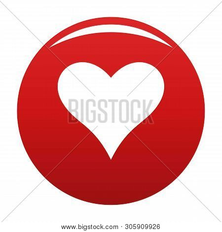 Affectionate heart icon. Simple illustration of affectionate heart vector icon for any design red poster