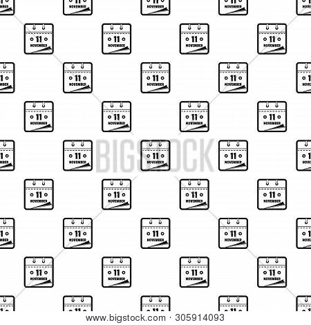 Calendar Eleventh November Pattern Seamless Vector Repeat Geometric For Any Web Design