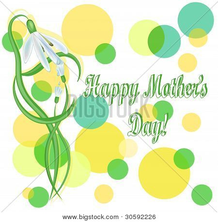 Mother's Day Background With Snowdrops