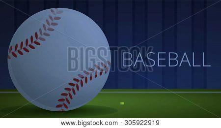 Baseball Pitch Concept Banner. Cartoon Illustration Of Baseball Pitch Vector Concept Banner For Web