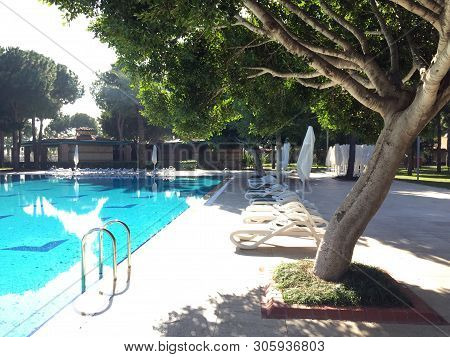 Beautiful Tropical Beach Front Hotel Resort With Swimming Pool,