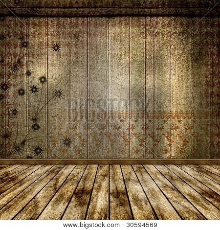 The Old Room. Grunge Abstract Background For A Design.
