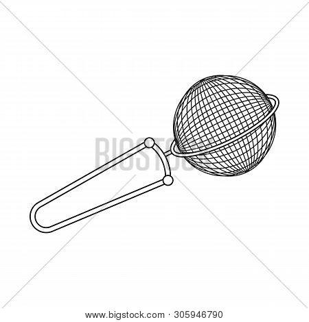 Vector Illustration Of Strainer And Tea  Symbol. Collection Of Strainer And Tool  Stock Vector Illus