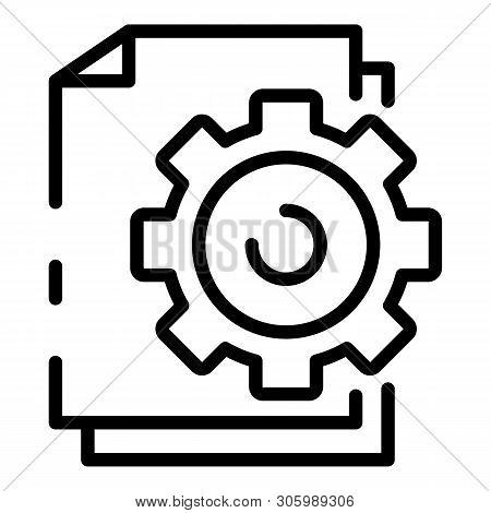 File System Configuration Icon. Outline File System Configuration Vector Icon For Web Design Isolate