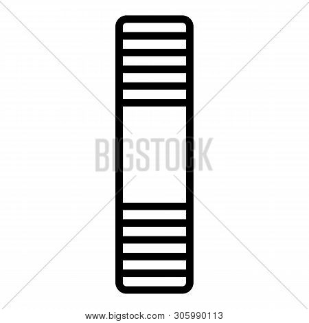Steel Stud Icon. Outline Steel Stud Vector Icon For Web Design Isolated On White Background
