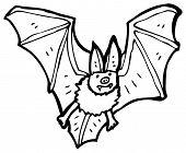 vampire bat cartoon (raster version) poster