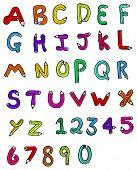 cartoon pencil shaped alphabet poster
