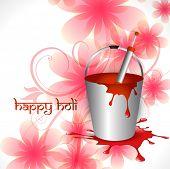 indian holi festival vector illustration poster