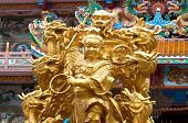 naja the golden statues of Chinese gods and dragons poster