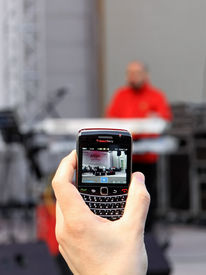 Recording by mobile phone