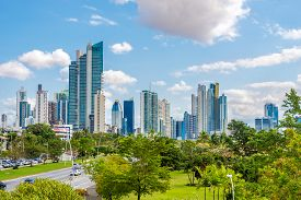 Panama City,panama - March 28,2019 - View At The Downtown Of Panama City. Panama City Is Capital Of