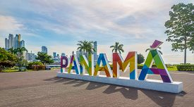 Panama City,panama - March 30,2019 - In The Streets Of Downtown Of Panama City. Panama City Is Capit