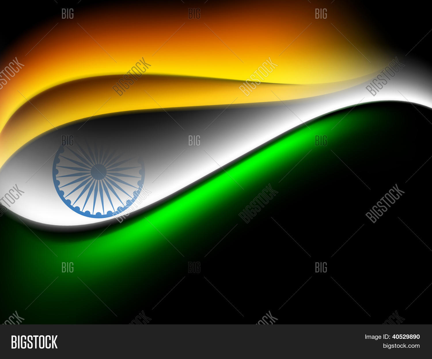 Creative Watercolor Indian Flag Background For Indian: Indian Flag Color Vector & Photo (Free Trial)