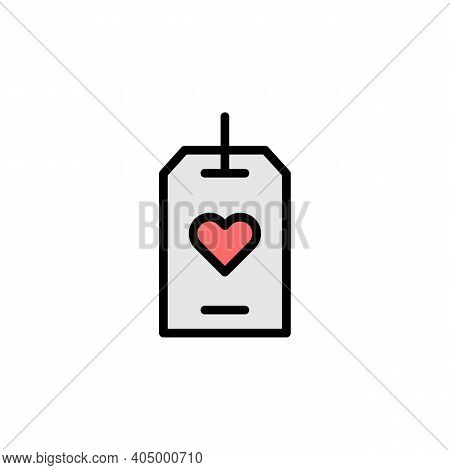 Mothers Day Tag Outline Icon. Element Of Mothers Day Illustration Icon. Signs And Symbols Can Be Use