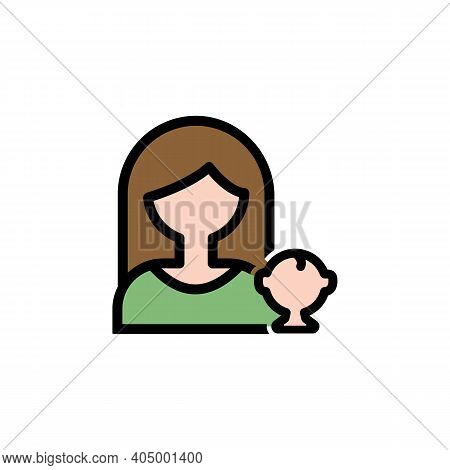 Mothers Day Motherhood Outline Icon. Element Of Mothers Day Illustration Icon. Signs And Symbols Can