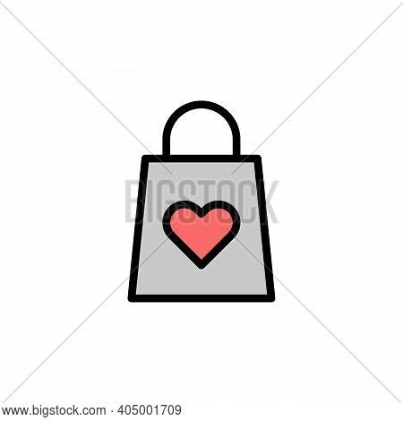 Mothers Day Shopping Bag Outline Icon. Element Of Mothers Day Illustration Icon. Signs And Symbols C