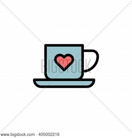 Mothers Day Coffee Cup Outline Icon. Element Of Mothers Day Illustration Icon. Signs And Symbols Can