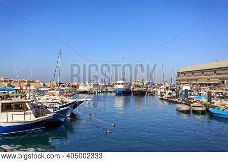 Tel Aviv, Israel - December 28, 2015: Jaffa Old Port