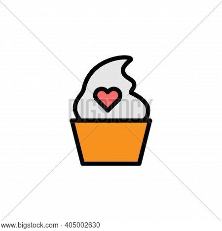 Mothers Day Ice Cream Outline Icon. Element Of Mothers Day Illustration Icon. Signs And Symbols Can