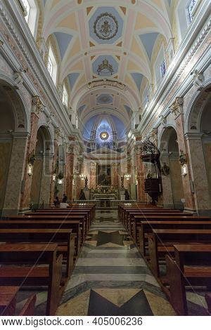 Jaffa, Israel - December 28, 2015: Interior St. Peter's Cathedral