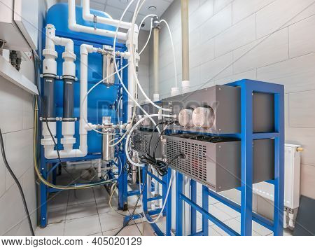 Automated Computerized Ozone Generator Machine For Ozonation Of Pure Clean Drinking Water In Water P