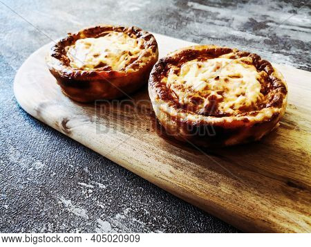 Quiche Lorraine with smoked bacon
