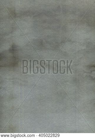 Abstract Grey Stained Paper Texture Background Or Backdrop. Empty Grey Paperboard Or Grainy Cardboar