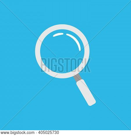 Magnifying Glass Zoom Simple Flat Icon Search Or Finder Tool Illustration