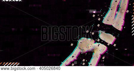 Cyber Girl Ai Cyber Style On Neon Color Background  Trendy Microwave Synthwave Neon Cyber Background