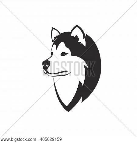 Vector Of A Dog Head Design( Siberian Husky) On White Background. Easy Editable Layered Vector Illus