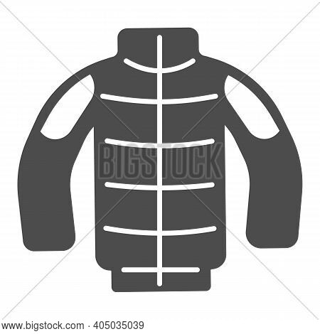 Winter Jacket Solid Icon, Winter Season Concept, Winter Clothing Fashion Sign On White Background, I