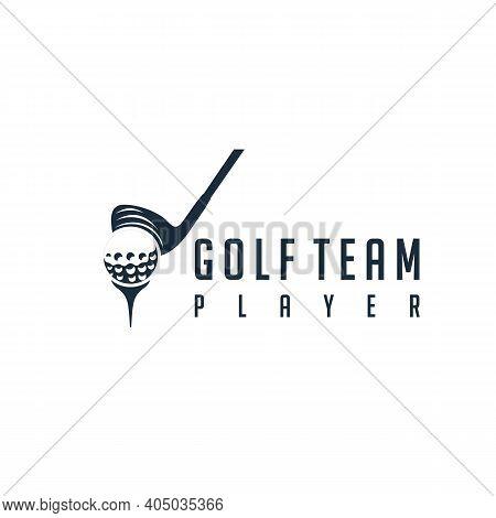 Modern Stick Golf With Ball For Golf Team Logo Design