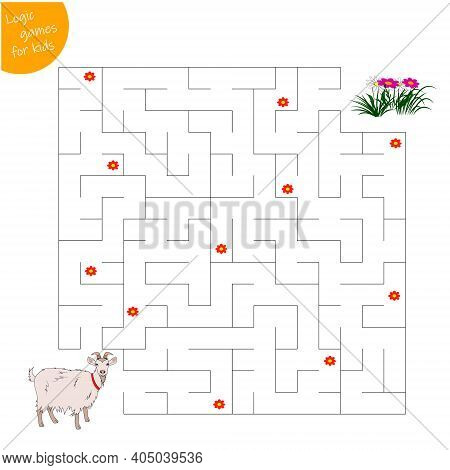 Game For Kids Pass The Maze, Help The Goat To Pass The Maze