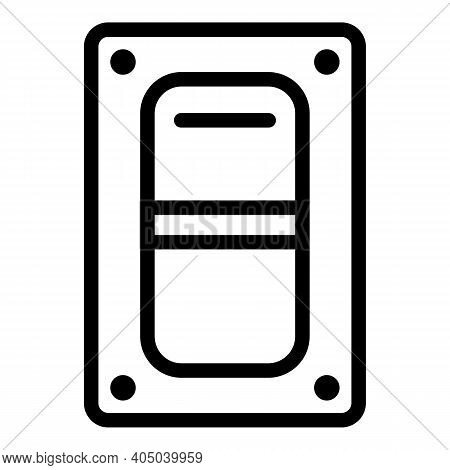 Generator Energy Switch Icon. Outline Generator Energy Switch Vector Icon For Web Design Isolated On