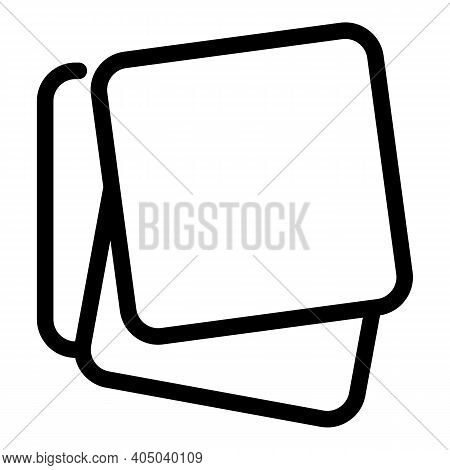 Tissue Paper Icon. Outline Tissue Paper Vector Icon For Web Design Isolated On White Background