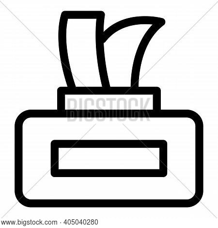 Wet Wipes Box Icon. Outline Wet Wipes Box Vector Icon For Web Design Isolated On White Background