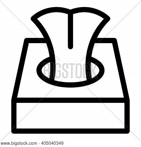 Sanitary Wipes Box Icon. Outline Sanitary Wipes Box Vector Icon For Web Design Isolated On White Bac