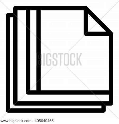 Paper Napkins Icon. Outline Paper Napkins Vector Icon For Web Design Isolated On White Background