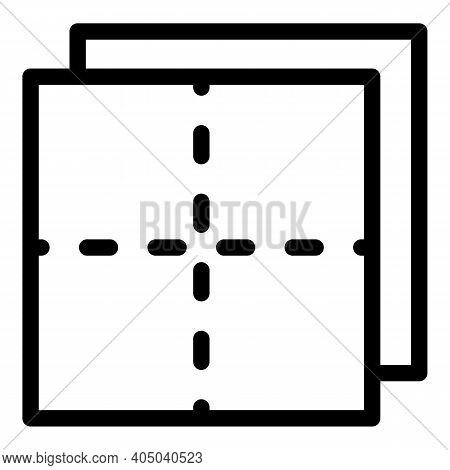 Dry Tissue Napkin Icon. Outline Dry Tissue Napkin Vector Icon For Web Design Isolated On White Backg